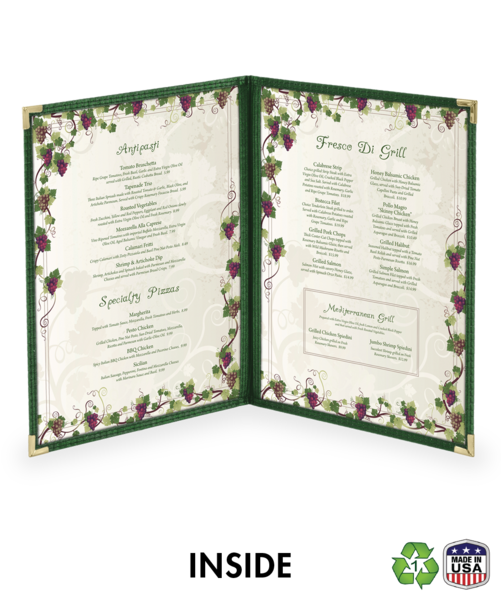 Double Cafe Style Menu Covers