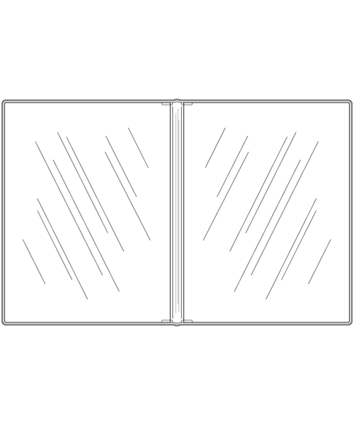 Double Crystal Clear Menu Covers