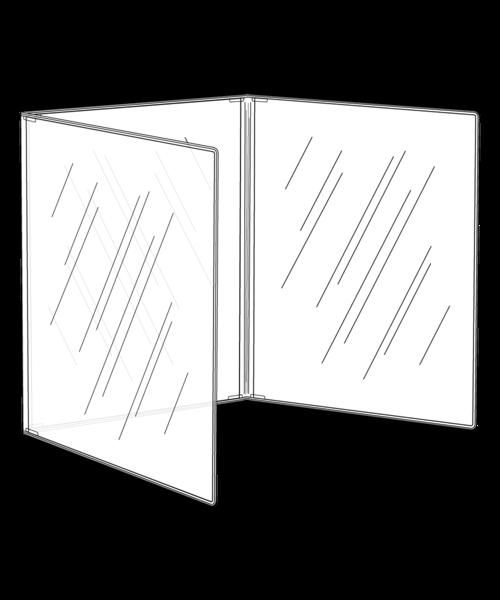 Triple Crystal Clear Menu Covers