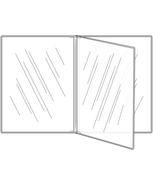 Triple Booklet Crystal Clear Menu Covers