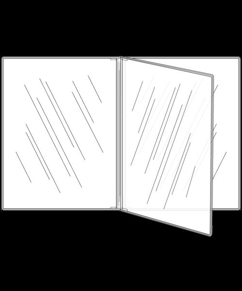 Triple Booklet Crystal Clear Menu Covers