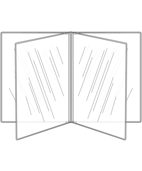 Quad Booklet Crystal Clear Menu Covers