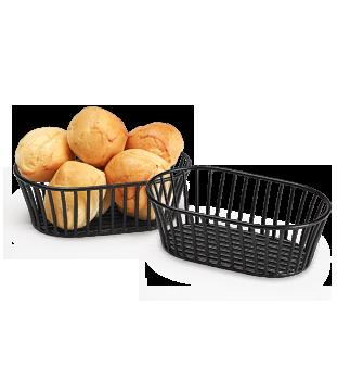 Short Black Tuscan Style Oval Basket