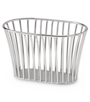 Stainless Steel Tuscan Style Stackable Bread Basket