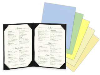Vellum Menu Papers