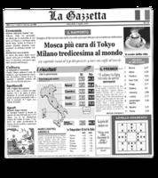 Image La Gazzetta Italian Newsprinted Tissue Liners
