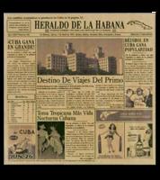 Image Heraldo de la Habana 50's Cuban Newsprinted Tissue Liners