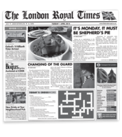 Image London Royal Times Newsprinted Tissue Liners