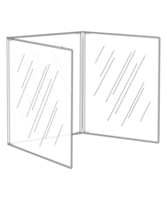 Triple Crystal Clear Menu Covers