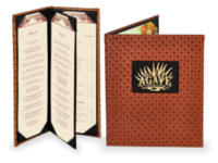Image Faux Leather Basketweave Menu Covers