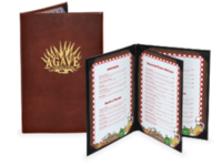 Image Bonded Leather Menu Covers