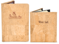 Image *NEW* Genuine Cork Menu Covers