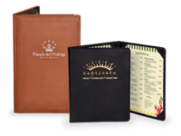 Image Faux Leather Menu Covers