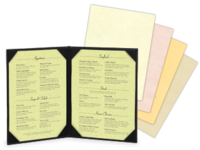 Image Blank Fiber Menu Paper