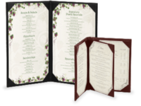 Image Quick Ship Imitation Leather Menu Covers