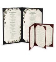 Image In Stock Imitation Leather Menu Covers