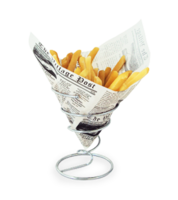 Image Medium Chrome Fry Cone