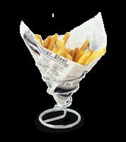 Image Medium Chrome Fry Cone