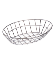 Oval Chrome Sandwich Basket