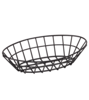Image Oval Black Powder Coated Basket