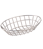 Image Oval Stainless Steel Basket
