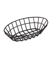 Oval Black Vinyl Coated Sandwich Basket