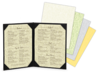 Parchment Menu Paper