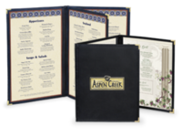 Image Flexible Leather Menu Covers with Clear Inside Pockets