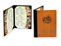 Fine Dining Menu Covers with Corner Tabs