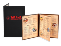 Image Padded Restaurant Menu Covers with Clear Inside Pockets