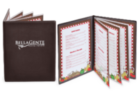 Padded Restaurant Menu Covers with Clear Inside Pockets