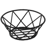 Round Braided Black Powder Coated Basket