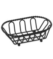 Image Small Black Powder Coated Braided French Basket