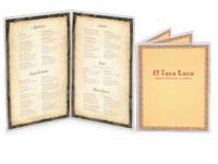 Image Crystal Clear Menu Covers