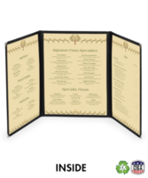 Triple (two fold/six view)  Deluxe Cafe Menu Covers (Style #1330)