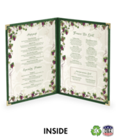 Double (4 view) Deluxe Cafe Menu Covers (Style #1310)