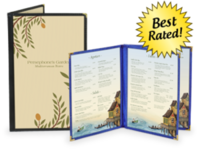 Deluxe Cafe Style Menu Covers w/ Clear Panels