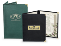 Image Fine Dining Menu Covers with Clear Inside Pockets