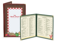 Image Quick Ship Cafe Menu Covers