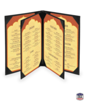 Quad Booklet Faux Ostrich Menu Covers
