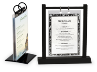 Image Flip Top Table Menu Holders