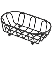 Image Small Black Powder Coated French Basket