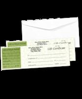Image Paradise Green Gift Certificates