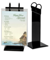 Image PVC Twin Ring Menu Holder