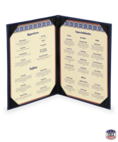 Image Double Faux Ostrich Menu Covers (2 view)