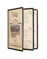 Image Triple Six View Booklet Cafe Style Menu Covers