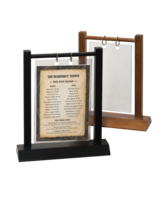 Image Wooden Double Post Menu Holder