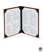 Image Faux Leather Basketweave Menu Covers (two view)