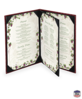 Image Faux Leather Basketweave Menu Covers (four view)