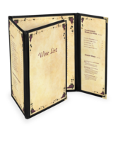 Image Continuous 3 1/2 Deluxe Cafe Menu Covers (Style #1335)